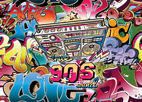 to Kulisse 5x7FT Hip Hop Fotografie Hintergrund für Karneval Retro Bunte Party Dekoration Kulissen für Fotografen Fotostudio Requisiten CP-139 ()