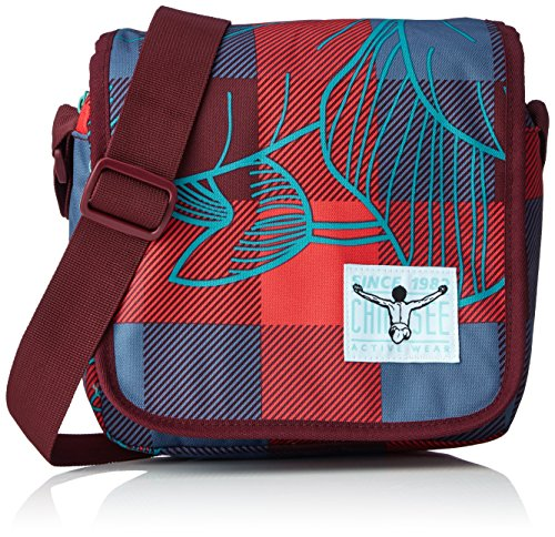 Chiemsee Unisex-Erwachsene Easy Shoulderbag Plus Umhängetasche, Mehrfarbig (Checks Floral), 8 x 20 x 21 cm (Umhängetasche Floral)