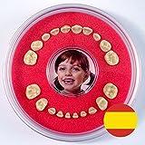 Cajita para Dientes de Leche --- Firsty Round --- (Rojo, Chica / Chico) ABF con texto en Espagnol