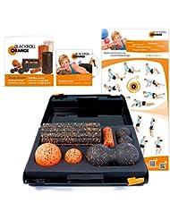 Blackroll Orange (Das Original) DIE Selbstmassagerolle - SMR-Set Groove STANDARD inkl. Koffer, Übungs-DVD, -Poster und -Booklet