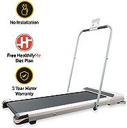 Lifelong SmartTrack LLTM18 (1.5 HP Peak) Ultra-Thin Folding Motorized Treadmill, HealthifyMe Smart Plan (Zero Installation Required)