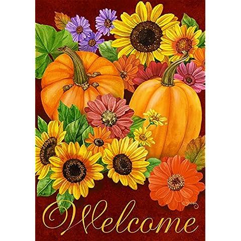 GLORIA floreale autunno Bandiera autunno zucche casa girasoli 71,12 cm X 101,6 cm