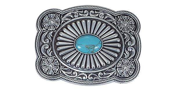 fabriqu/é aux /États-Unis motif oeil turquoise Boucle de ceinture Nocona style western//cowboy