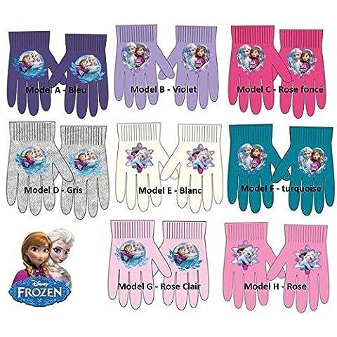 Gants LA REINE DES NEIGES Frozen Disney * L'unité/Model Aléatoire * Gants d'hiver/Fille * Taille unique (violet (model B))