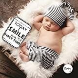SYGA Set Of 27 Baby Milestone Cards, Baby Shower Gift, Newborn Gift, Baby Photo Props, Baby Monthly Card, Monochrome Baby Gift, New Baby Card Game
