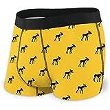 Moose Pattern Men's Underwear Boxer Briefs Lightweight Trunks S-XXL
