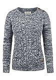 DESIRES Phia Damen Strickpullover Grobstrick Pullover 100% Baumwolle, Größe:L, Farbe:Insignia Blue (1991)
