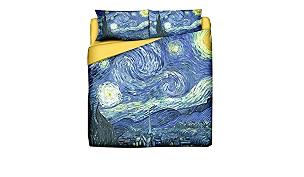 Copripiumino Bassetti Notte Stellata.Tessile Van Gogh Vincent Notte Stellata Copripiumino