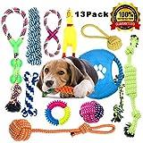 Anwin Hundespielzeug 13pcs Kauspielzeug Interaktives Spielzeug Set Intelligenz Hundeseile Spielset Seil mit geflochtem Ball aus Baumwolle Zahnreinigung für große...