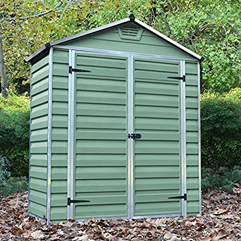 6x3 Plastic Apex Garden Storage Shed with Skylight & Vent - By Waltons