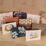 surom 8sortiert Pack Thank You Karten & 1Geburtstagskarte für Thanksgiving, Weihnachten, neues Jahr, Hochzeit, Baby Dusche, Jahrestag, Bridal Dusche, Bronzing Relief Karten mit Umschlägen, blanko in