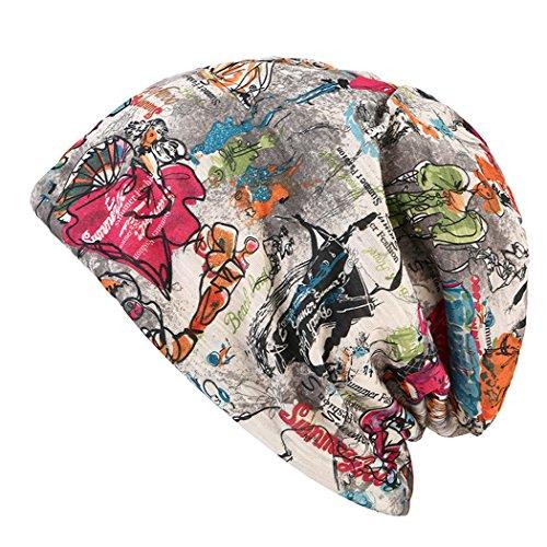 Zoylink ZOYLINK Chemo Mütze, Schädel Kappe Muster Multifunktionale Headwear Nightcap Beanie Cap für Frauen