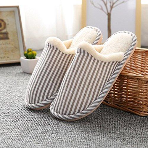 Inverno Pantofole Home Morbido Antiscivolo Slip-on Scarpe Caldo Peluche Casa Pattini per Donne Uomini Unisex Caffè