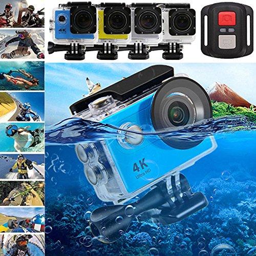 Cewaal Anyutai Telecamera sportiva impermeabile Wi-Fi con 12 milioni di pixel, 170 ° grandangolare, profondità di immersione fino a 200 piedi, perfetta per l\'immersione subacquea in sport estremi.