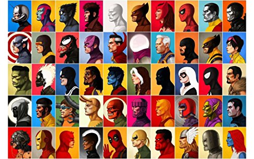 marvel-characters-wall-poster-print-30cm-x-43cm-brand-new-avengers-deadpool-xmen-spiderman