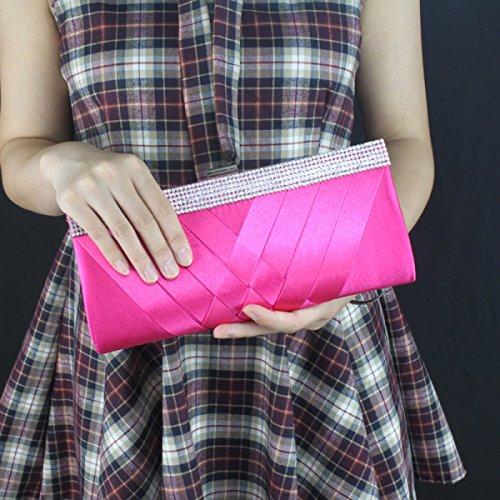 Signore Con La Catena Staccabile Borsa Di Sera Della Frizione Ciondolo Busta Frizione Borsa Da Sera Out Collection Pink