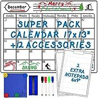 Set de Calendario Pizarra Blanca - Calendario Magnético 43 x 33 cm + 2 Libretas Borrables