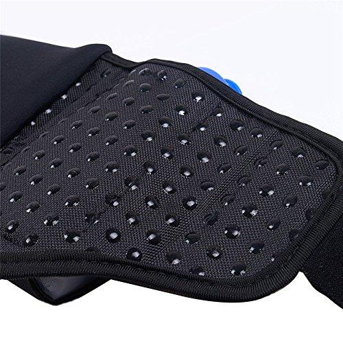 Amtop ergonomische Trinklaufgürtel, Trinkgürtel mit 2 Mini Trinkflaschen - Trinkrucksack für Läufer Schwarz / Blau
