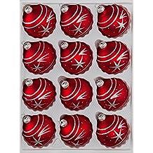 suchergebnis auf f r weihnachtskugeln glas rot christbaumkugeln. Black Bedroom Furniture Sets. Home Design Ideas