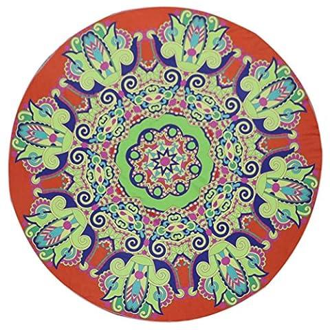 Ularma Rond Plage Serviette Yoga Couverture Châle Couvre-lit Tapis Plage Serviette 16710 (G)