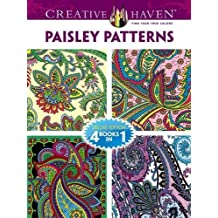 Paisley Patterns Adult Coloring Book: Deluxe Edition 4 Books in 1