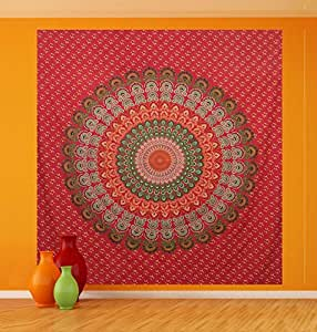 Bohemian Throw Wall Hanging Mandala Hippie Tapestry Curtain Cotton Table Cloth Bedspread Indian