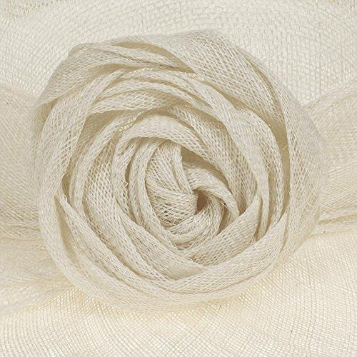 Chapeau de Ceremonie Anne McBURN chapeau pour femme Blanc