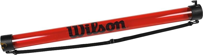 Wilson Ballsammelrohr, Ball Pick Up Tube, für bis zu 18 Tennisbälle, rot, WRZ323800