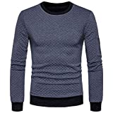 JYJM Herren Plaid Rollkragenpullover Herren Monochrome Top Herren Winter Bottoming Top Herren Casual Sweatshirt Herren Rundhalsausschnitt Long Sleeve Top Jacket Herren Kurze Jacke Herren Sports Jacket