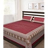 [Sponsored Products]Bombay Spreads Multi Color 100% Pure Cotton Full Size Double Bed Sheet Set With 2 Pillow Cover Elegant Design For Bedding Or Decoratuve (Jaipuri Bed Spreads)