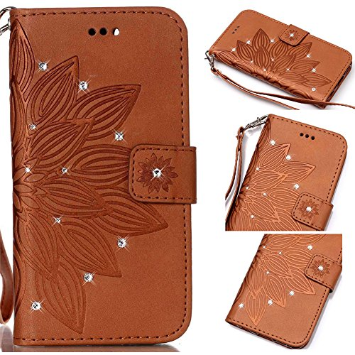 Akristal Bling Diamant Etui Housse Apple iPhone 6/6S (4.7 pouces), Slim-Book Portefeuille Coque Case Cover Prime Hybrid PU Wallet Skin Swag Smartphone Accessories Protection Protecteur D'écran Bumper  Multi-couleur 14
