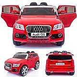 SIMRON - AUDI Q5 Quattro SUV Elektro Kinderauto Kinderfahrzeug Ride-On 12V Kinder Elektroauto -rot-
