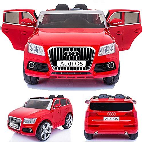 simron Audi Q5 Quattro SUV Elektro Kinderauto Kinderfahrzeug Ride-On 12V Kinder Elektroauto -rot-