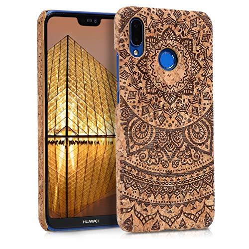 kwmobile Funda para Huawei P20 Lite - Carcasa Protectora de [Corcho] para móvil - Cover [Trasero] y diseño de Sol hindú
