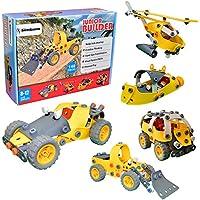 Junior Builder [148 pezzi] fai da te giocattoli flessibile Construction Engineering Set per i bambini, costruire e far finta di giocare educativo Stacking Kit Puzzle modello per i bambini [regalo di Natale per i ragazzi teenager e ragazze]