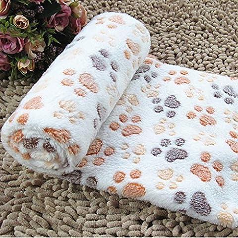 Vollter Caliente suave del animal doméstico Manta de lana Cama Estera del cojín de cubierta del amortiguador para el gato del perro de perrito del animal