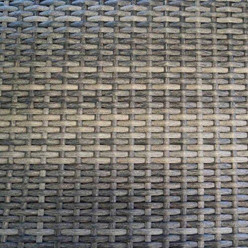 Gartenbank BARCELONA 2-Sitzer, Polyrattan Geflecht, grau-bicolor - 3