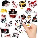 German Trendseller Kleine Piraten Glitzer Sticker Bögen ┃ Neu ┃ Pirat ┃ Kindergeburtstag ┃ Mitgebsel ┃ Schatzsuche ┃ Aufkleber für Kinder ┃ 6 Bögen