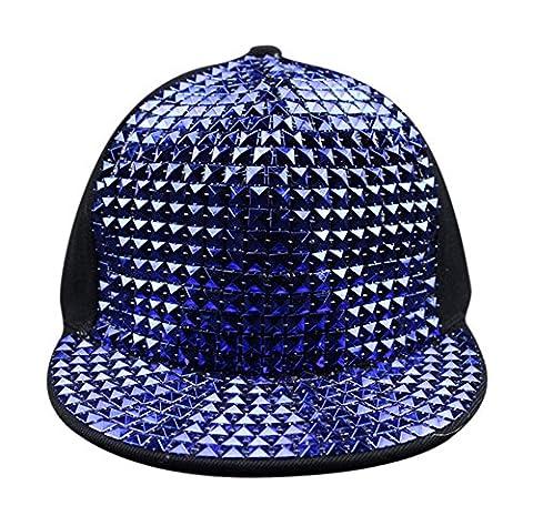 Bling Flat Hip Hop Cap Pyramid Plastic Studs Rivet Spikes Hat Rock Punk Hut Mütze