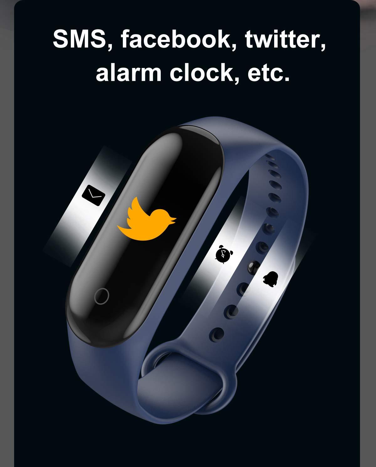 CHUANGE Fitness Tracker HR, Reloj de Seguimiento de Actividad con Monitor de frecuencia cardíaca, Banda de Fitness Inteligente a Prueba de Agua con Contador de Pasos, Adecuado para niños y niñas. 4