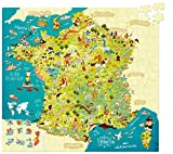 Vilac - 2726 - Puzzle Carte Des Merveilles De France - 300 Pièces