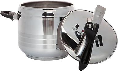 BERGNER Swiss Home Zurich - pentola a pressione in acciaio ino grande litri inductionable pentola