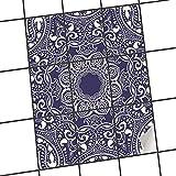 creatisto Badfliesen   Selbstklebende Fliesensticker Fliesen Tattoo Küchen-Folie Wand Deko   20x25 cm Design Motiv Blue Mandala - 9 Stück