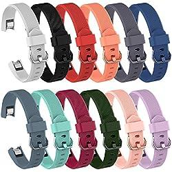 awinner bandas para Fitbit alta HR, de silicona banda de reemplazo para Fitbit alta HR y alta (Classic), color 12-Pack