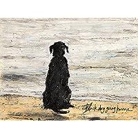 Art Group The Sam Toft Black Dog Going Home Canvas Print, Cotton, Multi-Colour, 1.8 x 30 x 40 cm