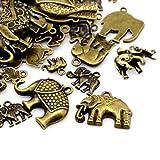 30 Gramm Antik Bronze Tibetanische ZufälligeMischung Charms (Elefant) - (HA13015) - Charming Beads