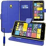 Nnm-Custodia a portafoglio, con supporto Video a libro, con flip, in pelle PU, per Nokia Lumia 1320