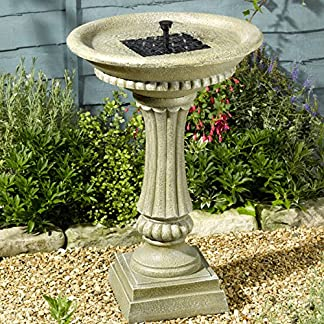 Smart Solar Winchester Birdbath Water Feature 61mCoDAYK6L
