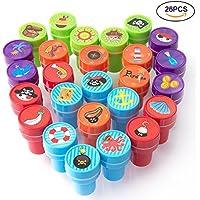 XIAOYAO Sellos para Niños 26 Piezas, sellos infantiles, sellos niños, Pirata princesa Alfabeto inglés fiesta infantil (pirata)