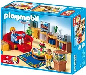 Playmobil 4282 jeu de construction salle de s jour for Salle a manger playmobil city life